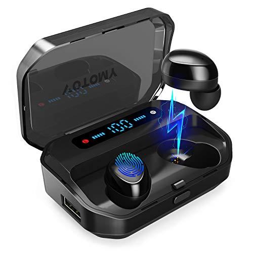 Bluetooth Kopfhörer, VOTOMY Bluetooth 5.0 Kopfhörer In Ear mit 200H Zyklus Spielzeit 5D TWS Stereo, Mono/Share-Modus 3500mAh Ladekoffer, IPX7 mit LED Digitalanzeige für iPhone Android