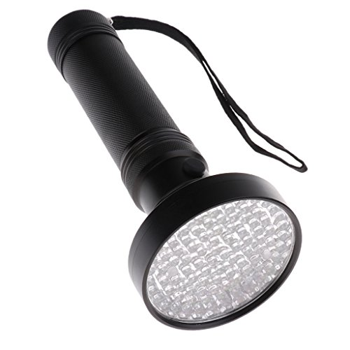 LOVIVER Detector de Manchas para Mascotas Linterna UV Blacklight para Inspección de Hogares Y Hoteles - Negro 100 LED