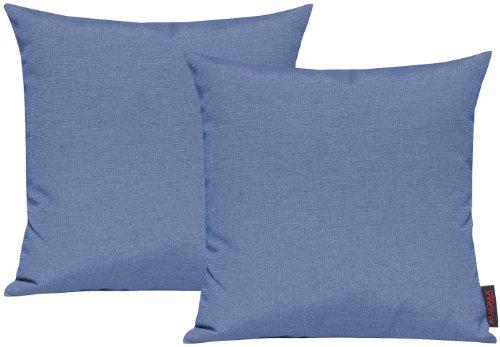 Set di 2 copricuscino per divano salotto - Dimensione:50x50cm - Colore: Azzurro canna da zucchero