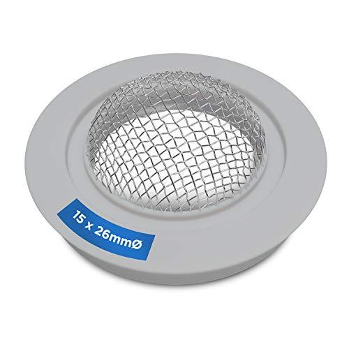 Dichtung mit Sieb Gummidichtring 15x26mmØ Siebdichtung Gummidichtung für 3/4 Zulaufschlauchverschraubung Ersatzteile für Waschmaschine und Geschirrspüler/Spülmaschine