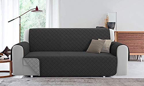 Funda de sofá acolchada reversible PET Friendly (antracita/perla, 2 plazas, 190 cm)