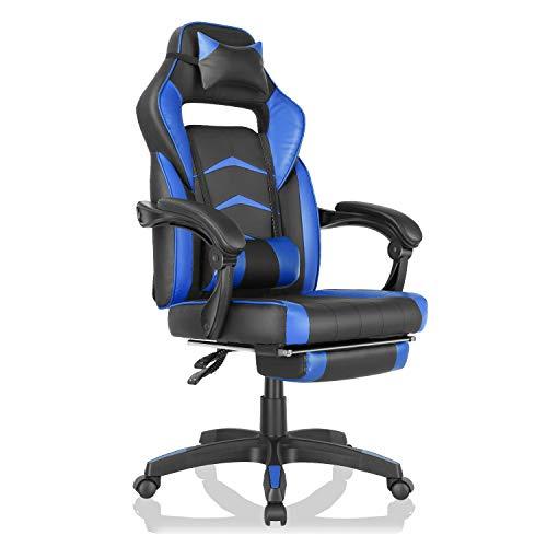 GARTIO Gaming Chair, Ergonomic High Back Swivel Office Recliner, Racing...