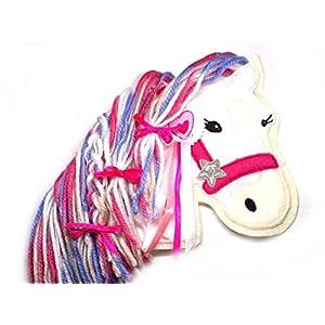 Applikation Pony gestickt Aufnäher Pferd Dekoration Schultasche Ranzen Schultüte Kinderzimmer freie Farbwahl