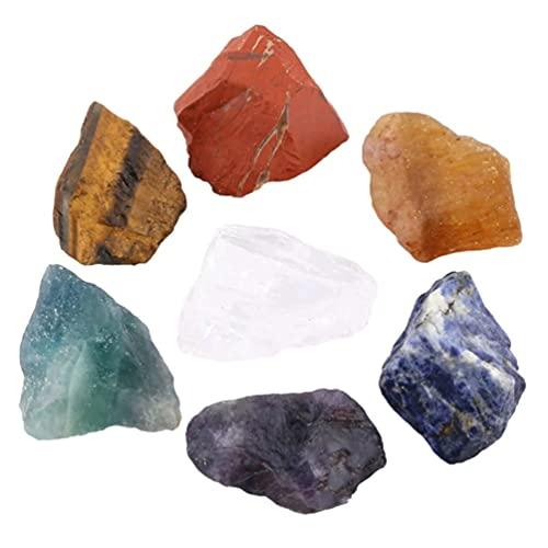 EXCEART Curación de Cristal Piedras Cristales Naturales Piedras Cristales de Sanación de Chakra Piedra (Colores Surtidos)