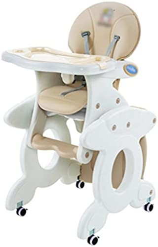 Anna Hochstühle Multifunktions-Kombination von Baby Essen Stuhl Kinder Schreibtisch Stuhl Kinder Esszimmer Tisch Stuhl (Farbe   Beige)