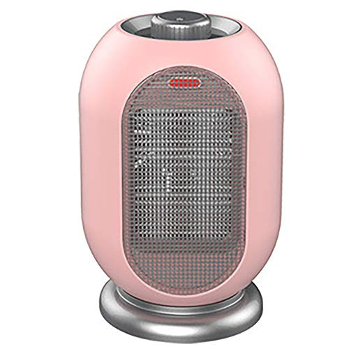 Calefactor con Temporizador, Ventilador de cerámica de Calentamiento rápido de 3 Capas, función de oscilación silenciosa, protección contra sobrecalentamiento, 1200 W para Oficina, Camping, casa