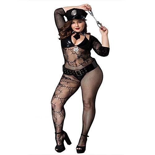 ZHCS Mujer Ropa De Dormir Sexy Lingerie EróTica Pijama Uniforme De Policia Perspectiva Ropa Interior Sexy TentacióN Uniforme