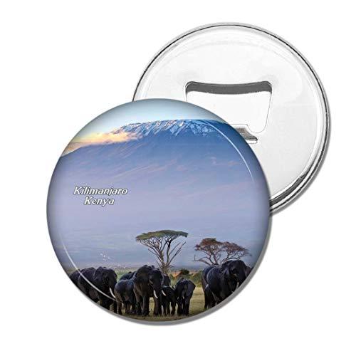 Weekino Kenia Kilimanjaro Amboseli Elefant Bier Flaschenöffner Kühlschrank Magnet Metall Souvenir Reise Gift