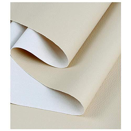 NXFGJ Leder Stoff Kunstleder Polsterstoff Meterware als Robuster Premium Bezugstoff/Möbelstoff zum Polstern und Beziehen, Cremefarbe, 1,38 × 1m.2m.3m (Color : Cream Color, Size : 1.38×3m)