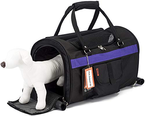 """Prefer Pets: Hideaway Pet Travel Carrier - 17""""L x 12""""H x 10""""D - Airline Approved Travel Carrier - Provides A Safe & Secure Way to Travel - Helps Reduce Pet's Fear & Anxiety"""
