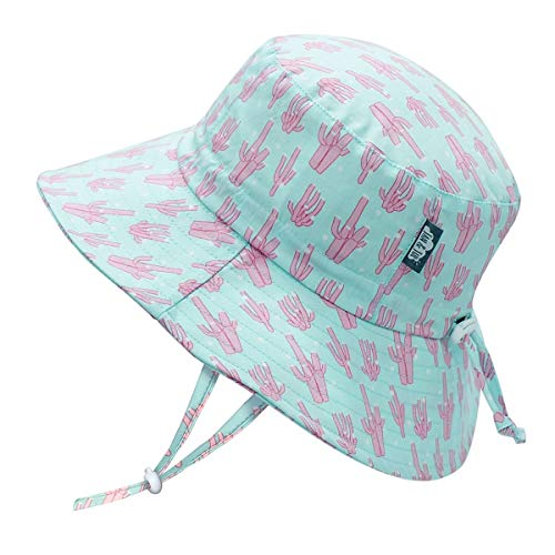 JAN & JUL Baby Sun-Hat with UV Protection for Toddler Girl, UPF 50+ (M: 6-24 Months, Coral)