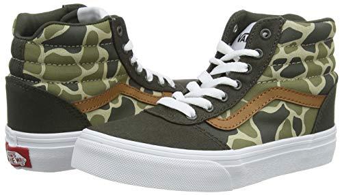 Vans Ward Hi Canvas, Sneaker a Collo Alto, Multicolore ((Frog Camo) Forest Night/White WLZ), 34.5 EU