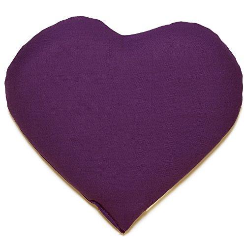 Kirschkernkissen Herz ca. 30x25cm - lila - Wärmekissen - Körnerkissen - Ein charmantes Geschenk