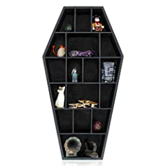 GOTHIC DECOR might hold a special place in your heart. Coffin shelves will add that goth home decor touch to your bedroom, bathroom, or even kitchen. GREAT IN PAIRS - You can put a coffin shelf on each side of your bed on the wall, or on each nightst...