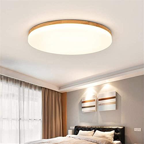 Lámparas de araña Plafon Redondo para Techo, Nordic Log LED Lights Lámpara De Techo Redonda para Dormitorio Simple Lámpara De Araña Moderna para Sala De Estar,Warm Light,220v