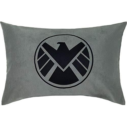 Cojín con funda y frases de Los Vengadores, 40 x 60 cm, decoración de escudo de Agents of Shield, logotipo de S.H.I.E.L.D, regalo para ventiladores, cojín decorativo con relleno
