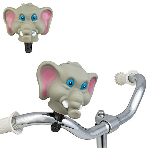 Smart-Planet® Lustige Fahrradklingel Fahrradhupe - Tierkopf - Tiermotiv - Fahrradglocke - Tröte - Hupe - Elefant - Fahrrad - Kinderfahrrad Klingel