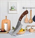 Nuevo Cleaver el deshuesado cuchillos 5,5 pulgadas de Serbia Cuchillo Con la envoltura de cuero forjado hecho a mano del cuchillo de cocina de la espiga completa Cuchillos de carnicero Cuchillo del co