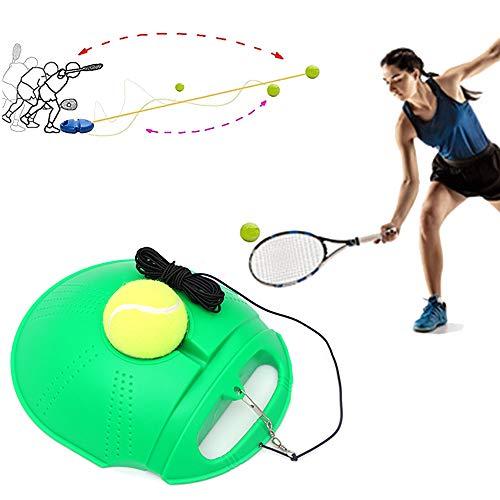 Entrenador De Tenis Herramienta De Entrenamiento De Tenis Con Pelota De Tenis De Ejercicio, Entrenador De Tenis Dispositivo De Entrenamiento De Zócalo De Tenis Para Principiantes, Ronda verde