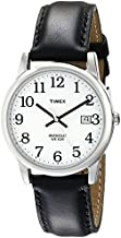 Timex Men's T2H281 Easy Reader 35mm Black Leather Strap Watch