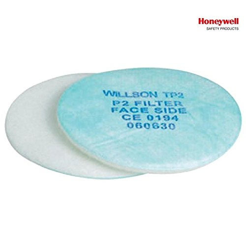 Set 2 Prefiltri P1 1002800 Willson - Honeywell Safety Per Filtri A Baionetta