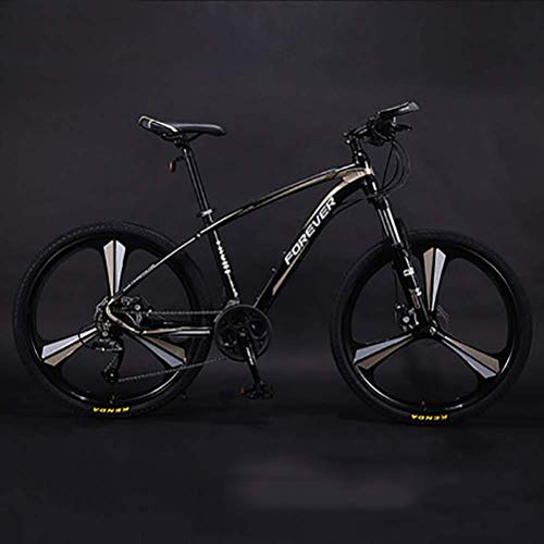 Mnjin Auténtica Bicicleta de montaña de línea Interior Anti-Carbono 2019, Bicicleta competitiva de Bicicleta para Hombres Adultos, Frenos de Disco de Choque Doble de Carretera Ligera bicicle