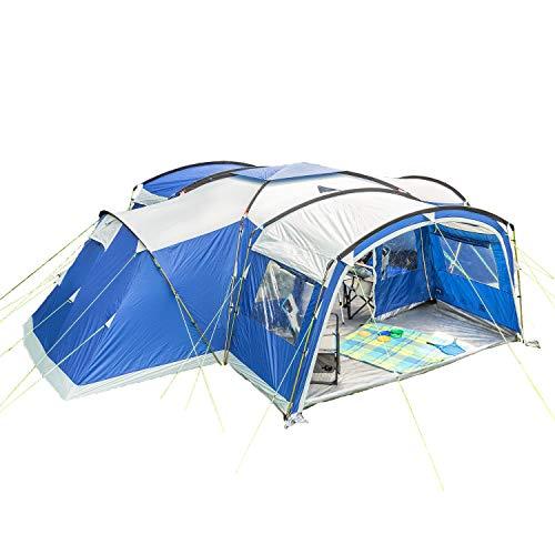 Skandika Familienzelt Nimbus für 12 Personen | Campingzelt mit Sleeper Technologie, 3 abgedunkelte und Schwarze Schlafkabinen, eingenähter Zeltboden, wasserdicht, 5000 mm Wassersäule, 2,15m Stehhöhe