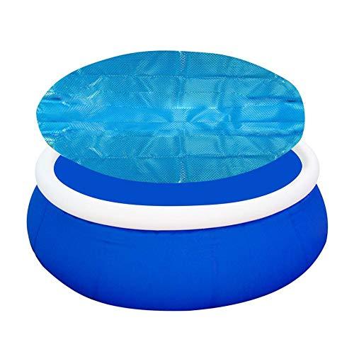 Cubierta Solar Piscina Isotérmica Azul Redondo Lona Térmica Protectora Cobertor Piscina Cubierta...