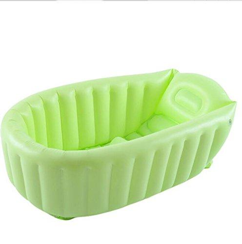 AJZGF Bébé gonflable PVC matériel épaississement bain chaud vert Baignoire