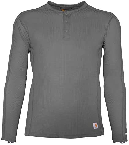 Carhartt Men s Size Force Midweight Classic Henley Thermal Base Layer Long Sleeve Shirt Shadow product image