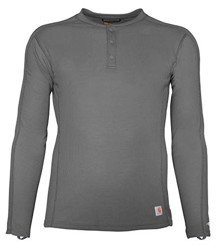 Carhartt Men's Force Midweight Classic Henley Thermal Base Layer Long