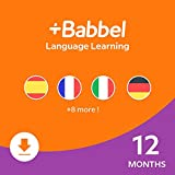 Babbel: Learn a New Language – Choose from 14 Languages including French, Spanish & English - 12 Month App Subscription for iOS, Android, Mac & PC [Online Software Download Code]