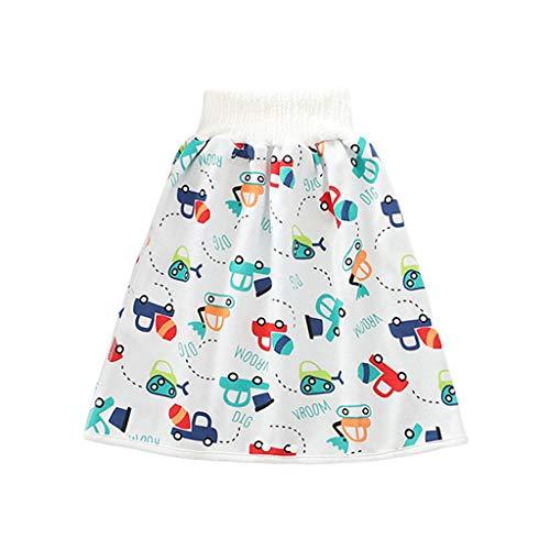 Manyao Windelrock für Babys, Windeln, Windeln, Windeln, waschbar, Trainingsrock, Höschen, für Jungen und Mädchen Gr. L:2-4 Jahre, Auto.
