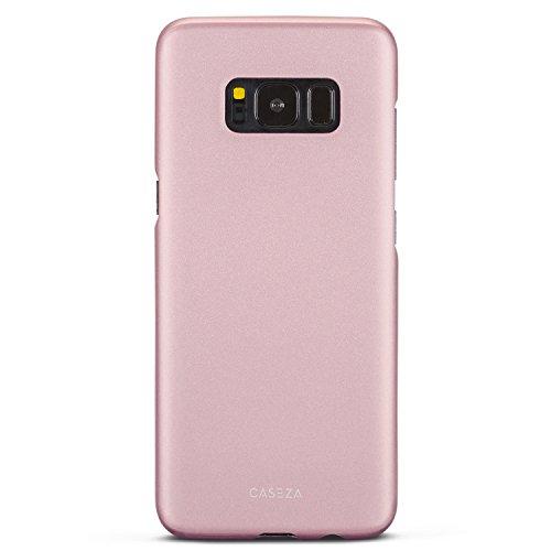 CASEZA Galaxy S8 Hülle Rose Gold Rio Case Back Cover mit Mattem Finish - Premium Hard Case Bumper mit Gummierter Oberfläche für Angenehme Haptik - Hochwertige Schutzhülle Ultra Slim
