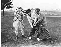 Three Stooges golfing
