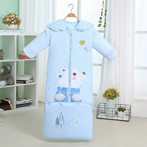 Forest Bear Flannery Plus Long Bag Big Sleeping Bag Convient Pour 0-6 Ans Bleu