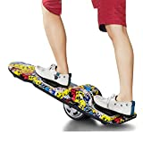 Skateboard Elettrico - Pneumatico in Gomma Solida da 6,5' Ruote Surf su Land Skateboard con Una Ruota di Potenza elettrica Central Drifting, Max Load 120kg, 15KM/H,2
