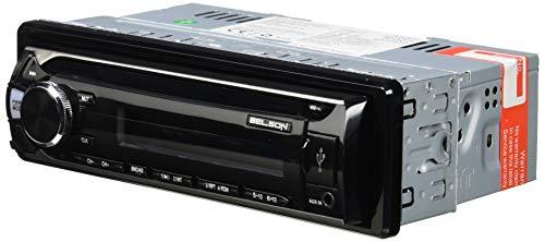 Belson BS-1502 autoradio met MP3, FM/AM zonder mechanisme, CD met USB en SD-kaartlezer, zwart