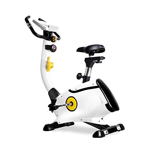 DJDLLZY Bicicleta estática para interior con pantalla LCD, silenciosa, para entrenamiento de cardio en casa