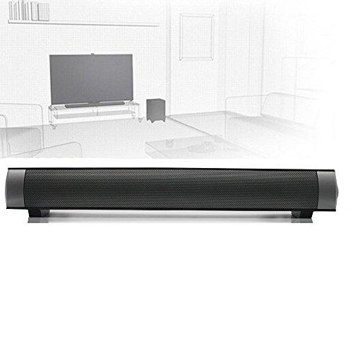 ELlight Bluetooth Small Sound Bar 2.0 Channel 15.7in 10W(2X5W) Wireless Stereo Speaker,Black