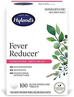 Hyland's Fever Reducer, Natural Relief, Cold and Flu Medicine for Adults, 100 Count