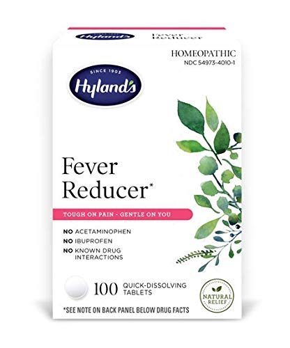 Hyland's Fever Reducer, Natural Relief, Cold and Flu Medicine for Adults, 100 Tablets
