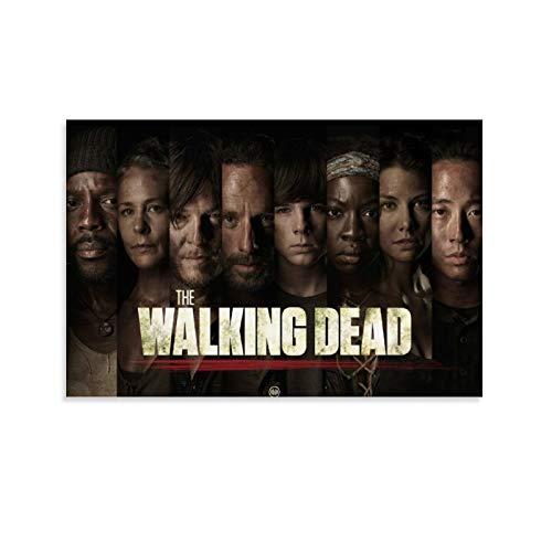 HHRF Póster de lienzo de The Walking Dead 33 para pared, diseño de The Walking Dead 33, a prueba de agua, 30 x 45 cm