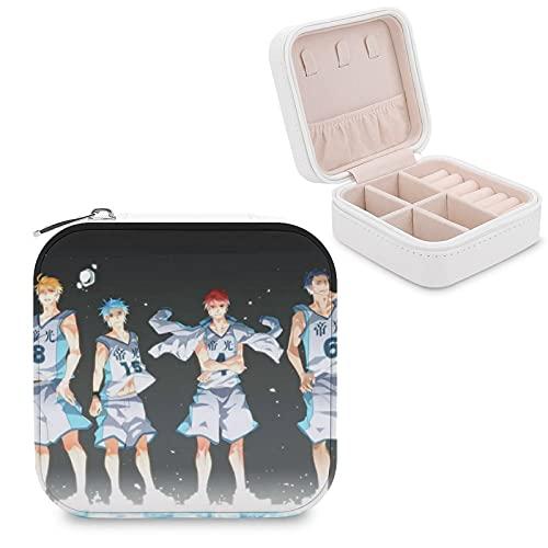 Kuroko's Caja de almacenamiento de joyería de baloncesto portátil de cuero sintético, utilizado para el almacenamiento de pequeños anillos de joyería, pendientes, collares