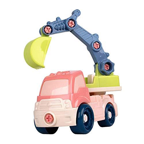 sharprepublic Desmontar vehículos de construcción, excavadoras de Montaje DIY camión de Juguete para niños de 3 a 4 5 años - Excavadora
