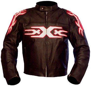Kc009 – Chaqueta de moto quad piel negra KARNO – TRIPLE XXX Style