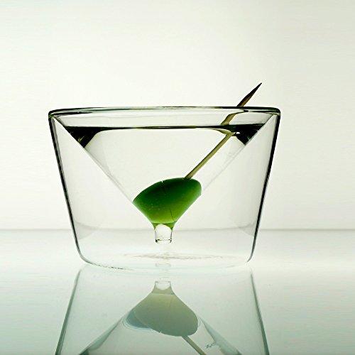 Martini Cóctel de 2vasos Set de regalo V. Charles and Marie–Doble pared, edeles Diseño 120ml