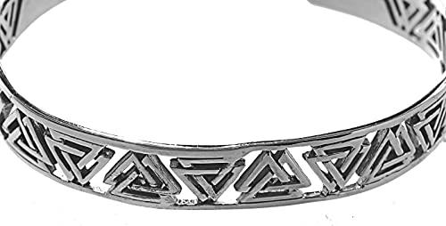 Pulsera de nudos de Wotan de plata de ley 925 n.º 2