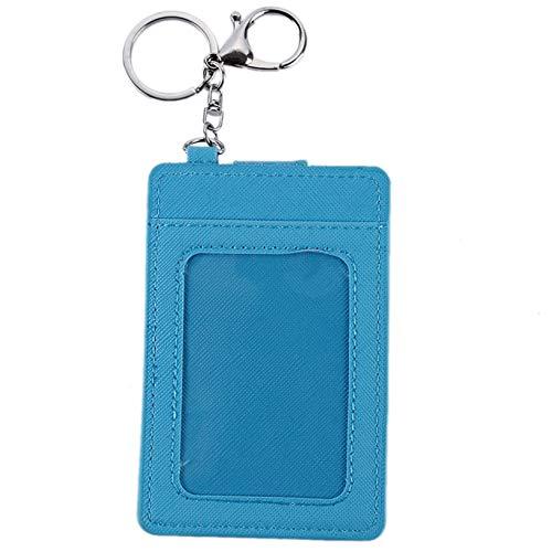 Aiasiry Minimalista Bolsillo para Tarjetas De Transporte Tarjetero Ultrafino para Tarjetas De Crédito Llavero Accesorio Estuche para Tarjetas, Azul