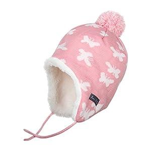 Ami&Li tots Baby Winter Infant Toddler Earflap Fleece Caps Hat Unisex Infant Knit Warm Cotton Cute Crochet Beanie Hat